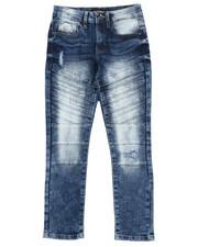 Jeans - Stretch Biker Denim Jeans (8-18)-2431232