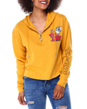 Graphix Gallery - Tom & Jerry 3/4 Zip Brushed Skimmer Hoodie-2431367