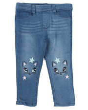Sizes 2T-4T - Toddler - Pull-On Denim Jeggings W/ Knee Embroidery (2T-4T)-2429990
