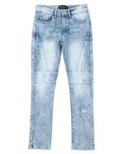 Jeans - Stretch Biker Denim Jeans (8-18)-2431225
