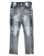 Bottoms - Stretch Biker Denim Jeans (8-18)-2431239