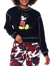 Tops - Mickey Contrast Stitch Skimmer Sweatshirt-2431041