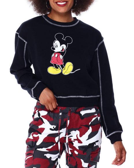 Graphix Gallery - Mickey Contrast Stitch Skimmer Sweatshirt