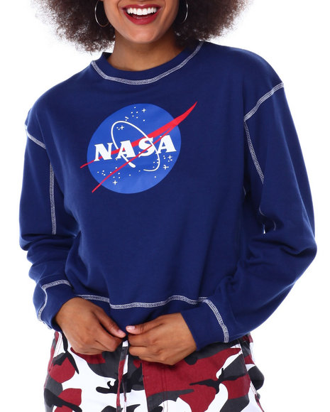 Graphix Gallery - Nasa Contrast Stitch Skimmer Sweatshirt
