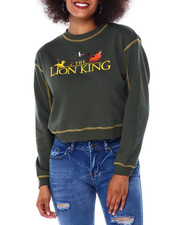 Graphix Gallery - Lion King Contrast Stitch Skimmer Sweatshirt-2430985