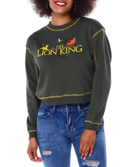 Graphix Gallery - Lion King Contrast Stitch Skimmer Sweatshirt