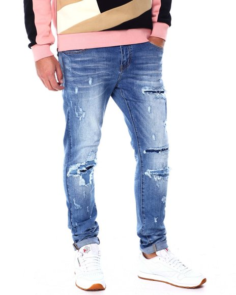 Foreign Local - Repaired Blown Out knee Jean