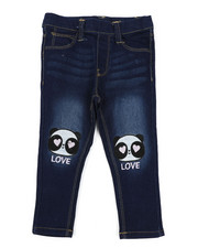 Bottoms - Pull-On Denim Jeggings W/ Knee Embroidery (2T-4T)-2431140