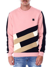 Mens-Holiday - Colorblock Fleece Crewneck Sweatshirt-2431844
