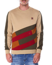 Makobi - Colorblock Fleece Crewneck Sweatshirt-2431815
