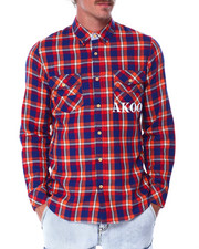 Mens-Holiday - checks ls woven shirt-2432161