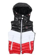 Boys - Color Block Puffer Vest W/ Hood (4-18)-2431418