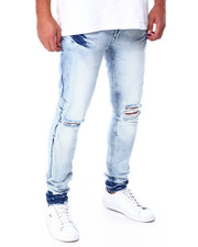 Jordan Craig - Ice Blue Open Knee Jean-2431564