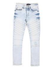 Boys - Stretch Biker Denim Jeans (8-18)-2431589