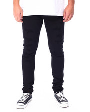 Jordan Craig - Distressed Jet Black Stretch Jean-2431577