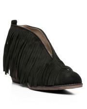 Footwear - Open Front Fringe Bootie-2432526