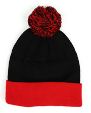 Hats - Colorblock Beanie With Pom -2432727