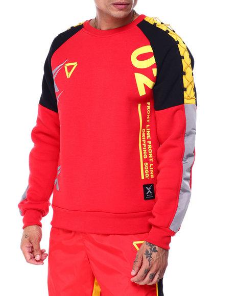 SWITCH - Cord Raglan Crewneck Sweatshirt