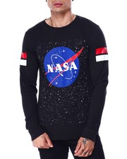 Akademiks - Space Nasa Photo print ls Tee-2432634