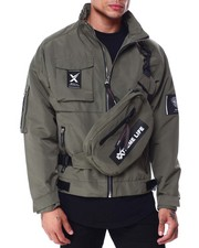 SWITCH - Nylon Jacket with Detachable Fanny Pack-2432465