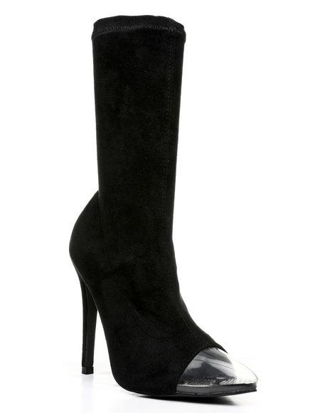 Fashion Lab - Peep Show PVC Toe Stiletto Heel Bootie