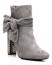 Fashion Lab - Zip Up Bootie With Side Bow-2431929