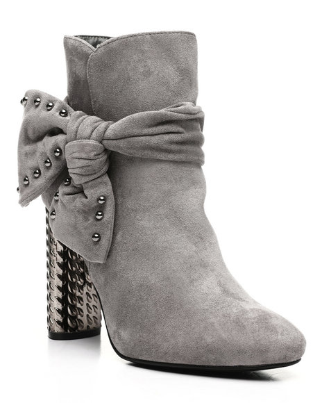 Fashion Lab - Zip Up Bootie With Side Bow