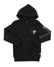 Hoodies - Full Zip Hoodie W/ Camo Chenille Patch (8-20)-2431742
