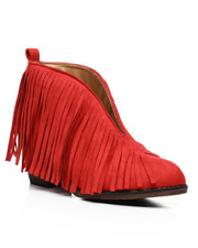 Fashion Lab - Open Front Fringe Bootie-2432666