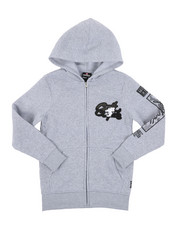 Hoodies - Full Zip Hoodie W/ Camo Chenille Patch (8-20)-2431788