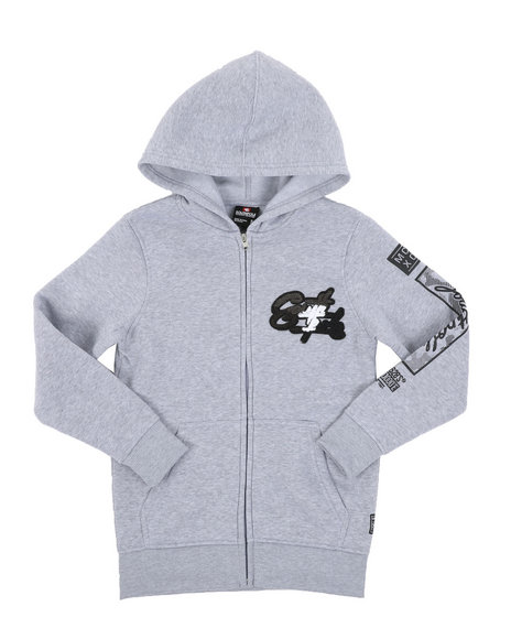 Arcade Styles - Full Zip Hoodie W/ Camo Chenille Patch (8-20)