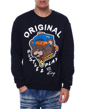 Buyers Picks - hustle play Teddy Crewneck Sweatshirt-2433074