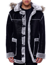 Mens-Holiday - Hooded Shearling Parka-2433017