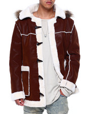 Mens-Winter - Hooded Shearling Parka-2433009