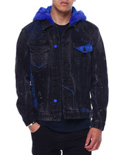 Denim Jackets - Fur Hooded Denim Jacket-2433100