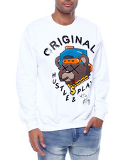 Buyers Picks - hustle play Teddy Crewneck Sweatshirt-2434107