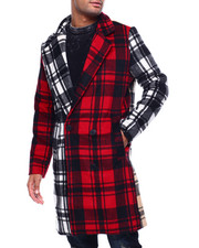 Mens-Holiday - Crazy Plaid Overcoat-2432989