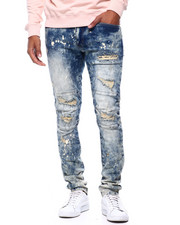 SMOKE RISE - SLIM TAPERED DISTRESSED JEAN Stella Blue RINSE-2433566