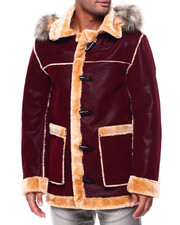 Outerwear - Hooded Shearling Parka-2434173