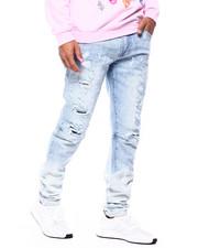 SMOKE RISE - Dip Dye Ripped Jeans-2433592