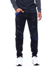 SMOKE RISE - Black Matrix Jean-2433579