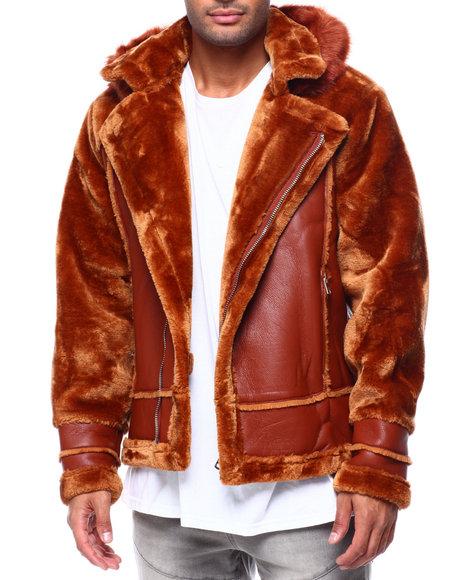 Buyers Picks - Shearling Sleeve Moto Jacket w Faux Fur Hood