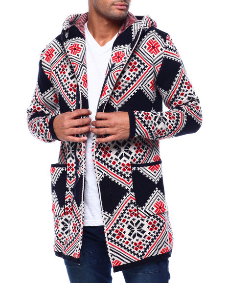 One in A Million - Diamond Shawl Collar Zip Up Sweater Jacket