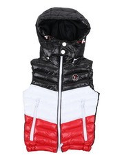 Outerwear - Color Block Puffer Vest W/ Hood (4-18)-2431465