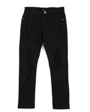 Bottoms - Skinny Fit Stretch Jeans W/ Rip & Repair Detail (8-20)-2432687