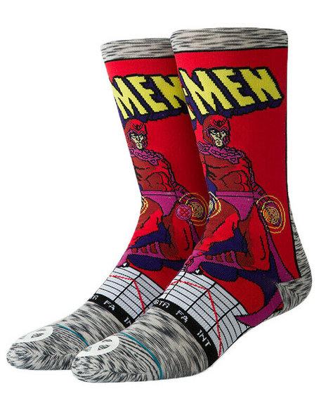 Stance Socks - Stance x Marvel Magneto Comic Socks (L(2-2.5)