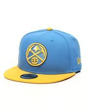 NBA MLB NFL Gear - Youth 9Fifty Denver Nuggets 2Tone Snapback Hat-2433223