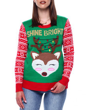 Ugly Christmas Shop - Shine Bright Christmas L/S Pullover Sweater-2433477