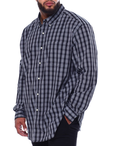 Chaps - Stretch Easy Care H-EC Stretch-L/S Sleeve-Sport Shirt (B&T)