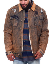 Born Fly - Boonies Sherpa Lined Denim Jacket (B&T)-2432695